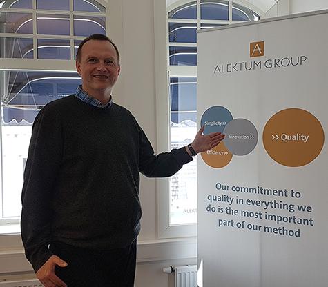 Foto: Arild Fjeldheim, leder av salg og marked i Alektum Norge