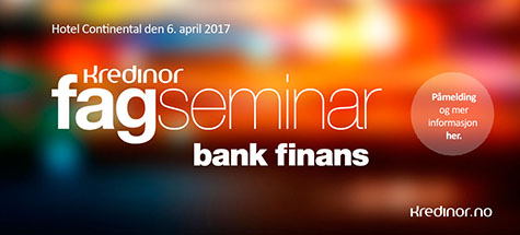 Kredinor fagseminar for bank og finans