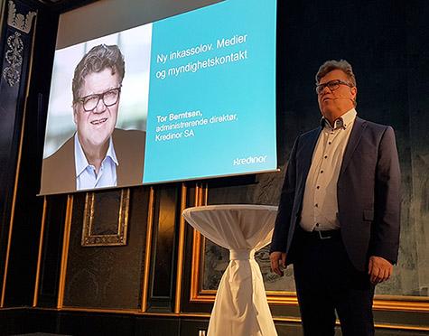 Foto: Tor Berntsen, adm. direktør i  Kredinor SA