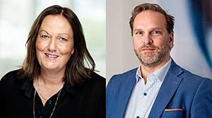 Foto: Heidi Hagen Stensrud, markedssjef innenfor energi i Kredinor og Knut E. Toftner, kundeansvarlig i Kredinor