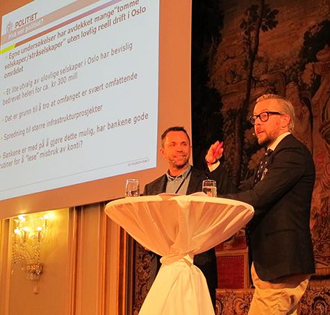 Foto: (F.V.) Politif�rstebetjent Rune S�fting og Politiadvokat Andreas Meeg-Bentzen