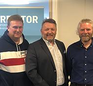 Foto: F.v. Bjørn Erik Althe, Bjørn Grønnesby og Tom Skogø