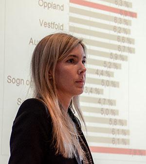 Foto: Anette Huseby, analysesjef i Lindorff.
