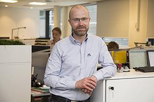 Foto: Martin Hovden, kredittarbeidet i Aller Media, ble i februar tildelt Kredittprisen for 2015.