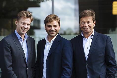 Foto: (f.v) Sami Seikkula � Director, Integration, OpusCapita,  Knut Anders Opstad � Managing director, Norian og Vidar M. Nordby � Managing Director, OpusCapita Norway.