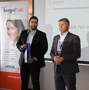 Foto: Usman Riaz, Seniorrådgiver, Namsfogden i Oslo og adm. direktør Sven Ingebretsen i Sergel