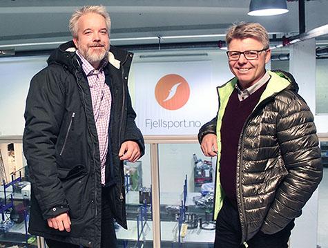 Foto: Eric Sandtrø og Sven Ingebretsen er enige om rask og digitalisert håndtering av utestående fordringer for Fjellsports norske og svenske kunder.