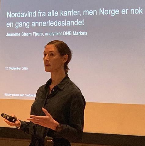 Foto: makroøkonom Jeanette Strøm Fjære, DNB Markets