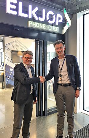 Foto: (f.v.) Sven O. Ingebretsen, administrerende direktør, Sergel Norge og Erik Gunset Sønsterud, CFO, Elkjøp Nordic