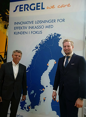 Foto:(f.v.) Adm. dir. Sven Ingebretsen i Sergel Norge og Isak Åsbrink,CEO i Legres (Sergel Group)